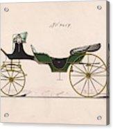 Design For Cabriolet Or Victoria, No. 3459  1875 Acrylic Print