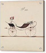Design For Eight Spring Victoria, No. 966  1850-74 Acrylic Print