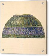 Design For Floral Lamp  Louis Comfort Tiffany American, New York 1848-1933 New York Acrylic Print