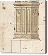 Design For Font Cover Ernest Geldart British, Londn 1848-1929 Acrylic Print