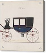 Design For Glass Panel Coach, No. 3133  1875 Acrylic Print