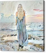 Desolate Or Contemplative Acrylic Print