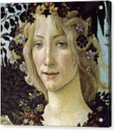 Detail From The Primavera, Circa 1478, Tempera On Panel Acrylic Print