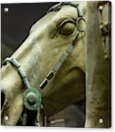Details Of Head Of Horse From Terra Cotta Warriors, Xian, China Acrylic Print