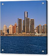 Detroit Buildings On The Water Acrylic Print