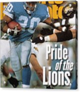 Detroit Lions Barry Sanders... Sports Illustrated Cover Acrylic Print
