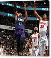 Detroit Pistons V Charlotte Hornets Acrylic Print