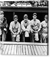 Detroit Tigers 1935 Pitching Staff And Acrylic Print