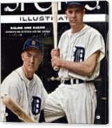 Detroit Tigers Al Kaline And Harvey Kuenn Sports Illustrated Cover Acrylic Print