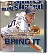 Detroit Tigers Justin Verlander... Sports Illustrated Cover Acrylic Print