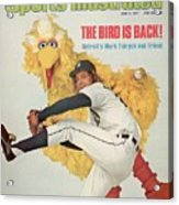 Detroit Tigers Mark Fidrych And Sesame Streets Big Bird Sports Illustrated Cover Acrylic Print