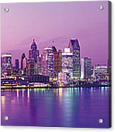 Detroit Under Purple Sky Acrylic Print