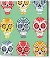 Dia De Muertos Skulls Acrylic Print