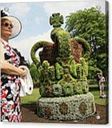 Diamond Jubilee Floral Crown Installed Acrylic Print