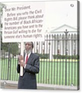Dick Gregory Holding Placard Acrylic Print