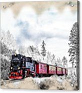 Diesel Powered Passenger Train Acrylic Print