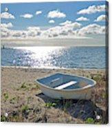 Dinghy On A Sunny Beach Acrylic Print