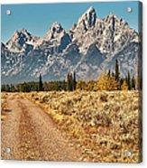 Dirt Road To Tetons Acrylic Print