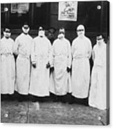 Doctors Wear Surgical Gowns And Masks Acrylic Print
