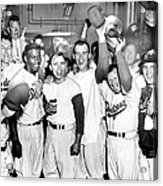 Dodgers Celebrate In The Clubhouse Acrylic Print