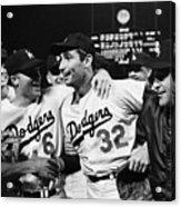Dodgers Congratulating Sandy Koufax Acrylic Print