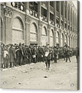 Dodgers Fans In Line At Ebbets Field Acrylic Print