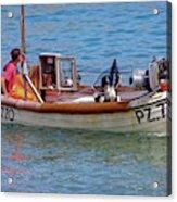 Doggone Fishin Acrylic Print