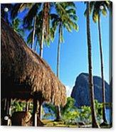 Dolarog Beach Resort With Inabuyatan Acrylic Print