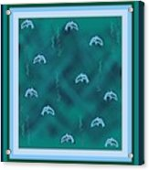 Dolphins Design Acrylic Print