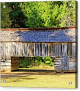 Double Crib Barn In Cades Cove In Smoky Mountains National Park Acrylic Print