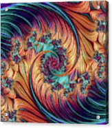 Double Fractal Spiral Acrylic Print