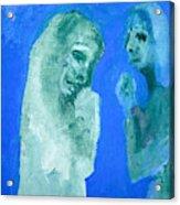 Double Portrait On Blue Sky Acrylic Print