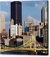 Downtown Pittsburgh Panorama From Pnc Acrylic Print