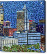 Downtown Raleigh - City At Night Acrylic Print