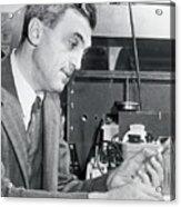 Dr. Felix Bloch In A Laboratory Acrylic Print