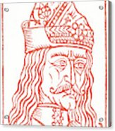 Dracula Or Vlad Tepes, 1491 Woodcut Acrylic Print