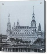 Dresden Cathedral- Dresden Acrylic Print
