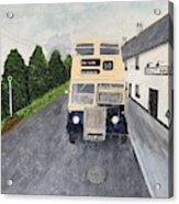 Dublin Bus Painting Acrylic Print