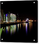 Dublin City Along Quays Acrylic Print