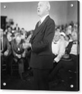 Dudley Field Malone Delivering Speech Acrylic Print