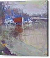 Dusk At Tonawanda Canal Acrylic Print