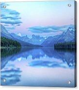 Dusk On Maligne Lake Acrylic Print