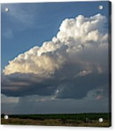 Dying Thunderstorms At Sunset 006 Acrylic Print