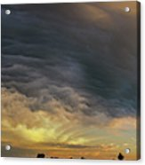 Dying Thunderstorms At Sunset 010 Acrylic Print