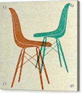 Eames Plastic Side Chairs II Acrylic Print