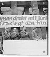 East German Ministers Applauding Acrylic Print