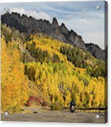 Easy Autumn Rider Acrylic Print