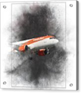 Easyjet Airbus A319-111 Painting Acrylic Print
