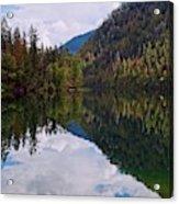 Echo Lake Early Autumn Reflection Acrylic Print