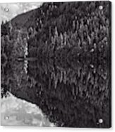 Echo Lake Reflection Black And White Acrylic Print